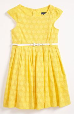 McKenzie would look so adorable in this one!! Pumpkin Patch Polka Dot Dress (Little Girls & Big Girls) available at #Nordstrom
