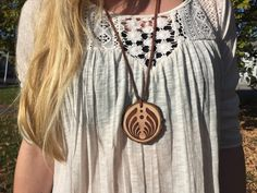 Bassnectar Wood Burned Pendant Necklace by dancewiththetrees on Etsy