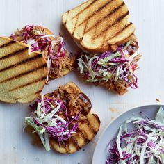 This recipe for pulled pork is flavored with roasted garlic and homemade barbecue sauce.