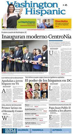 Edición impresa del 27 de Septiembre de 2013: http://washingtonhispanic.com/index.php?mod=historico&id=312
