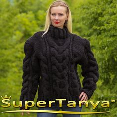 Mega thick and heave hand knitted mohair wool by supertanya