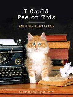 I Could Pee on This: And Other Poems by Cats By Francesco Marciuliano. Nothing else said... funny whether a cat lover or NOT..