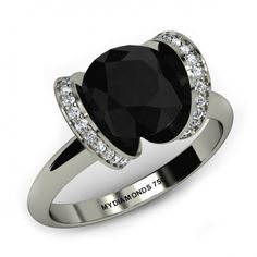 Jacy Black Diamond Ring