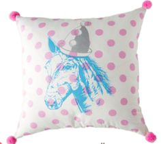 BARGAIN BASEMENT ITEM: Pom Pom Pony Pillow from The Well Appointed House