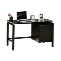 Sauder Lake Point Home Office Desk Black / Black - 408916 - Sauder Furniture,