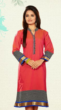 4ae1a365bd640 Latest Kurtis   Long Tunic Tops in Silk   Cotton Collection 2014