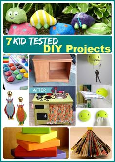 7 kid tested DIY projects for a rainy weekend afternoon - http://thegardeningcook.com/kids-crafts-fun-crafts/
