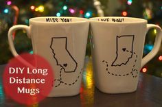 DIY Holiday Gift Ideas | Long Distance Mugs