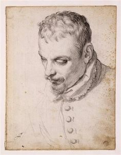 Agostino Carracci (It. 1557-1602)Portrait of a man, possibly Anibale Carracci