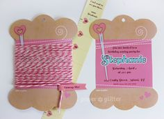 Cute Sewing Party Invitation