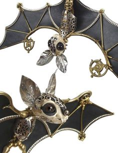 Steampunk bat jewellery.