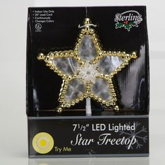 This tree topper is so simple, so elegant, its just right. Unique Tree Toppers, Christmas Tree Toppers, Christmas Ornaments, Gold Beads, Stars, Elegant, Holiday Decor, Simple, Color