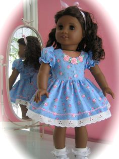 Party Dress made to fit 18 inch American Girl Doll by MenaBella, $25.95