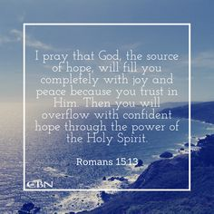 Be confident in the Lord. #CBN #Amen