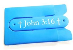 """John 3:16 """"For God so loved the world, that he gave his only Son, that whoever believes in him should not perish but have eternal life.""""  Got faith? Let your friends and family know your favorite bible passage while keeping all your cards and IDs organized. A smart, durable wallet and phone stand, the Kanagroo Kickllet gives you convenience and function while letting you express yourself.   www.KangarooKickllet.com"""