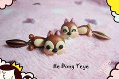 Handmade polymer clay earrings by hedongyeye on Etsy, $13.99