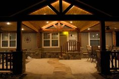 Traditional Home outdoor patio Design Ideas, Pictures, Remodel and Decor - Best Pins Live Mobile Home Porch, Mobile Home Exteriors, Remodeling Mobile Homes, Home Remodeling, Bathroom Remodeling, Single Wide Remodel, Outdoor Patio Designs, Porch Designs, Porch Addition