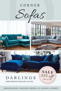 Dont miss out on our January sale! With up to 35 OFF luxury corner sofas, you are certain to find the perfect new year deal. Shop online or in store today! Boho Living Room, Living Room Sofa, Living Room Decor, Corner Sofa Lounge, How To Make Corner Sofa, Luxury Sofa, Lounges, Room Decor Bedroom, Living Room Designs