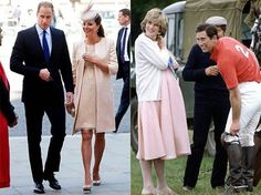 Royals ~ comparisons with princess diana carrying to full term with willliam versus kate with prince george