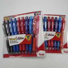 18 Pentel WOW Retractable Ballpoint Pens Medium Point Multi Ink Assorted for sale online Sharpie Highlighter, Wite Out, Pentel Energel, Gel Ink Pens, School Stationery, Pen Refills, Best Pens, Pencil And Paper, Vintage Office