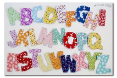 diy fabric alphabet letters
