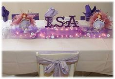 Table at a Sofia the First Party #sofia #party