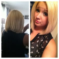 Finally cut my hair off! Angled bob