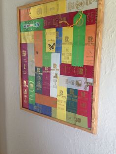 What to so with all those sports and participant ribbons. Award Ribbon Display, Award Display, Display Ideas, Ribbon Quilt, Ribbon Art, Swim Ribbons, Hanging Medals, Horse Show Ribbons, Kids Awards