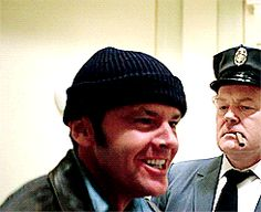 "Jack Nicholson as Randle Patrick ""Mac"" McMurphy in the 1975 film ""One Flew Over the Cuckoo's Nest."" Nicholson won the Academy Award for Best Actor. (3 of 4)"
