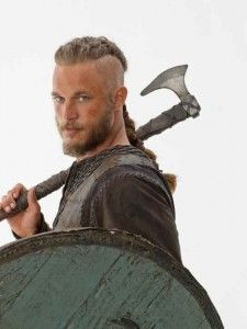 Travis Fimmel from History Channel's The Vikings. He looks like a mix of Brad Pitt and Charlie Hunnam. Um yes please!