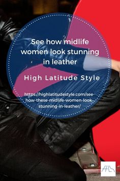 This post presents various leather outfit ideas worn by style bloggers over 40. #streetstyle #bloggerstyle #leatherlady