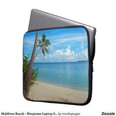 Maldives Beach - Neoprene Laptop Sleeve 15 inch Neoprene Laptop Sleeve, Laptop Sleeves, Maldives Beach
