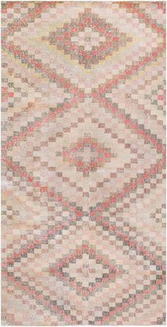 Mid 20th Century Vintage Turkish Deco Rug