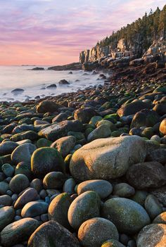 Otter Cliffs at Sunrise - Acadia National Park, Maine Beautiful Nature Scenes, Beautiful World, Acadia National Park, National Parks, Photography Workshops, Photography Tips, Cool Landscapes, Landscape Photographers, Otters