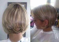 Corte de cabelo curto e loiro