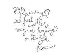 Famous Artists Quotes and Sayings about art   Pin Pablo Picasso Quotes Sayings Famous Art Life Inspirational on ...