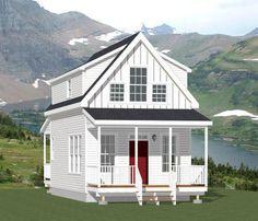 16x30 Tiny House -- 2 Bedroom  -- PDF Floor Plan -- 873 sq ft -- Model 8