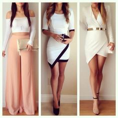 dress top white dress black dresses white and black dress golden belt white bag