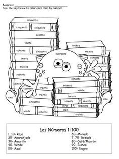 Perfect for any grade level- elementary through high school. Print off and use to give your students who are fast finishers, or use to review colors and numbers throughout the year! These sheets focus on numbers 1-100.How to get TPT credit to use on future purchases: Please go to your My Purchases page (you may need to login).
