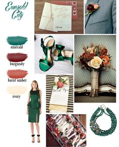 Emerald Color Scheme, perfect for fall! #welcometogirlworld » B: Wedding Color Schemes for L.