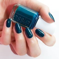 This peacock blue nail polish color is just too cute! Shop 'satin sister' from the groovy 2016 essie winter collection for a mani that will be your sidekick all season long. Shop this gorgeous nail lacquer here: http://www.essie.com/Colors/greens/satin-sister.aspx