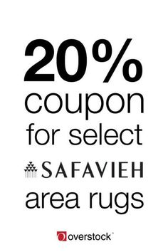 Make your room pop with Safavieh area rugs. Receive a 20% off coupon on select items when you shop at Overstock today! Offer ends 9/11/17. Click to activate.