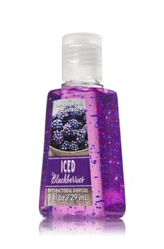 Iced Blackberries - PocketBac Sanitizing Hand Gel - Bath & Body Works - This miniature must-have contains natural ingredients and powerful germ killers that keep hands fresh and clean on-the-go with wonderful winter fragrances!
