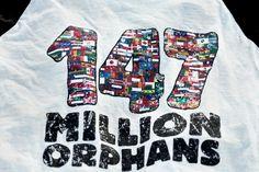 My newest favorite comfy shirt. 147 Million Orphans