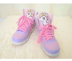 We offer FREE  and FAST worldwide delivery for this item, Excellent Moooh!! customer service is included in the price too.    New Moooh!! Harajuku shoes collection. Lovely unicors shoes in soft pastel tone colors.These shoes are made of natural leather.    More Details:  Waterproof  Material: Nat...