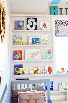 Modern Bedroom Ideas for Boys Affordable tips for decorating your little boy's bedroom. Kids decor. Kids bedroom ideas. Kids bedroom decor. Ceiling stripes. Boy Nursery. Nursery Ideas. Nursery decor