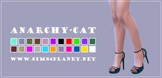 Anarchy-Cat: Madlen`s Attila Shoes recolor • Sims 4 Downloads