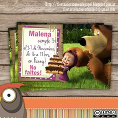 Resultado de imagen para masha y el oso decoracion de fiesta