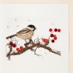 Oiseaux et petits fruits BL1004 6 x 6 par QuillingCard sur Etsy