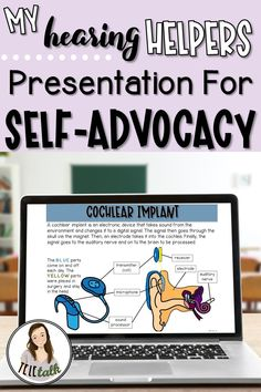 My Hearing Helpers Presentation for Self Advocacy Speech Therapy Autism, Speech Language Pathology, Speech And Language, Student Teaching, Teaching Resources, Self Advocacy, Therapy Activities, Social Skills, Cochlear Implants